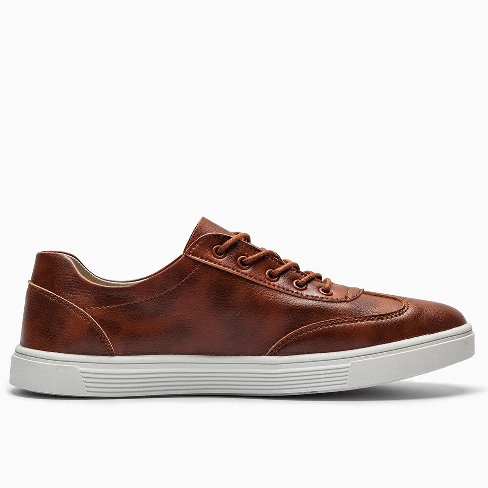Buvazik En ardoisé 2018 Snearker Haute Microfibre Hommes marron Vulcaniser Appartements De Printemps Pour Qualité Noir Mode Casual Chaussures Cuir 68ntq6UHr