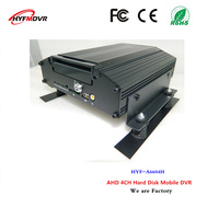 truck dvr 4 channel hard drive surveillance video recorder with wide voltage devices support Italy / Macedonian languages