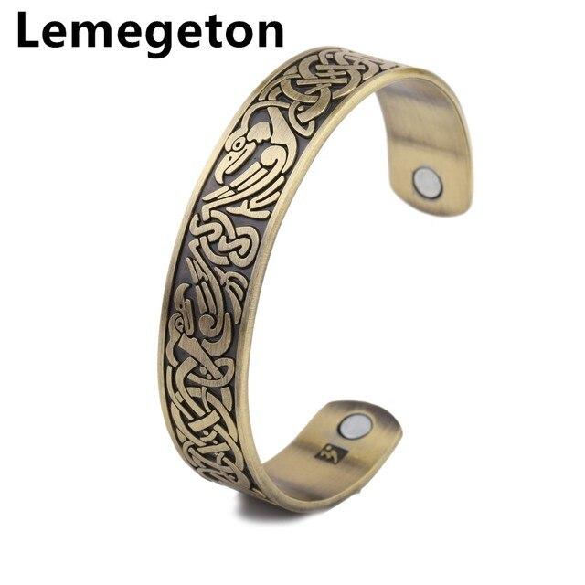 Lemegeton Accents Bronze Phoenix Magnetic Cuff Bracelet For Arthritis Joint Pain Migraines Rsi Health Management Bangle
