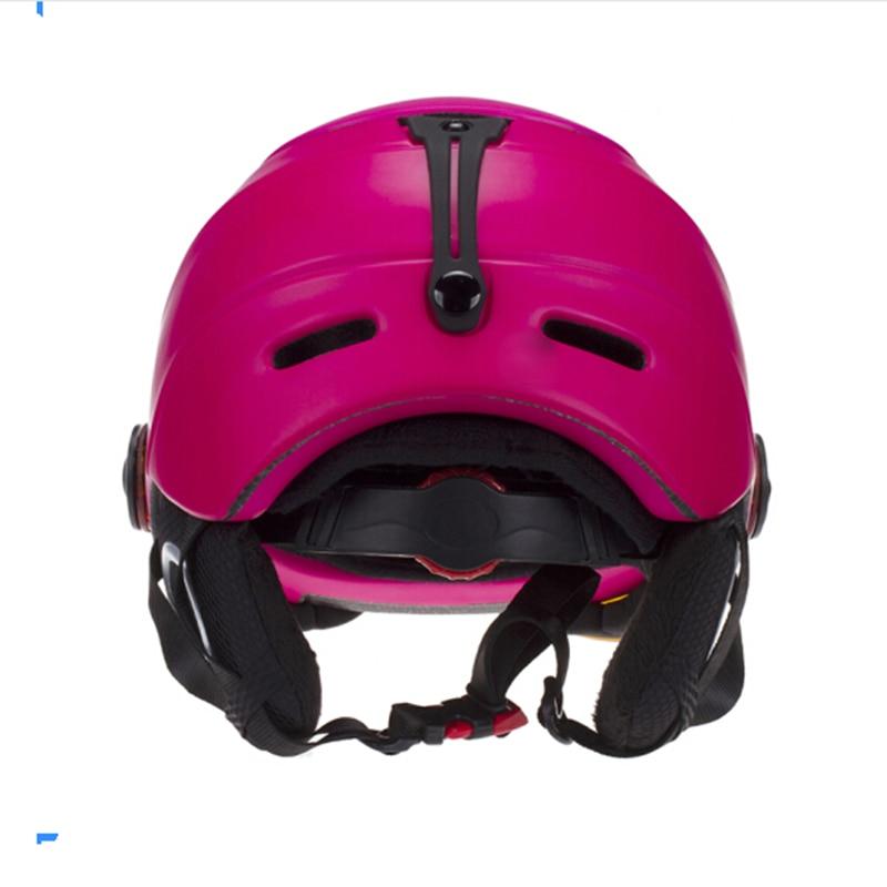 Ao Ar Livre Snowboard Ski Skate Capacete Rosa