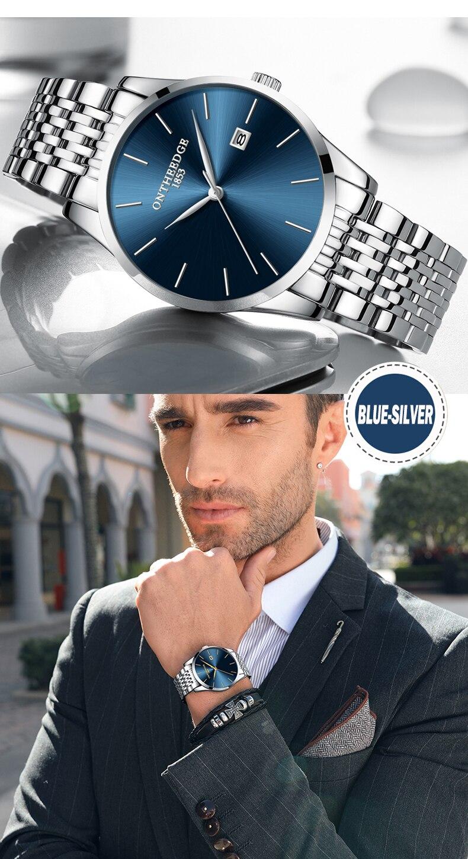 quartzo de luxo relógios de aço inoxidável