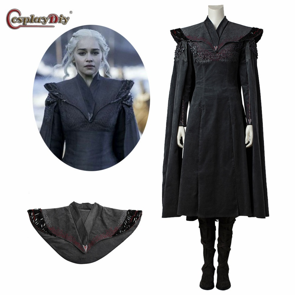 Game of Thrones 7 Daenerys Targaryen Costume Adult Women Medieval Dress Dragon of Mother Clothes Halloween Cosplay Costum Made