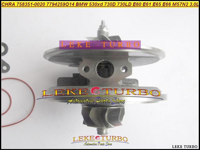 Turbo Cartridge CHRA GTB2260V 758351 758351-0013 For BMW 525D 525XD 530D 530XD 730D 730LD 3.0L D M57N M57N2-3/456789 10 11 235HP turbo cartridge chra core gt2556v turbine repair parts for bmw 730 d e38 m57 d30 184hp 193hp 454191 5017s 454191 0003 454191