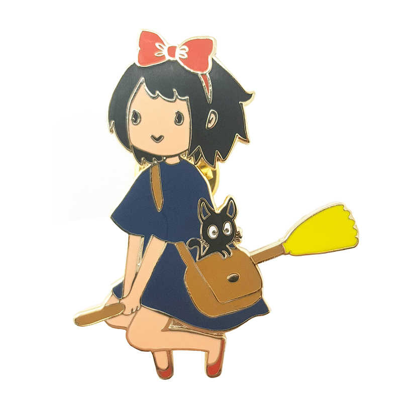 บริการจัดส่ง kiki Hard Enamel Pin Anime Studio Ghibli badge