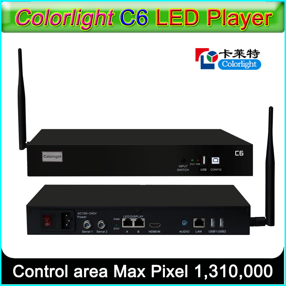 Colorlight C6 LED Player Asynchronous LED sender box  Supported all Colorlight LED receiving card Colorlight C6 LED Player Asynchronous LED sender box  Supported all Colorlight LED receiving card