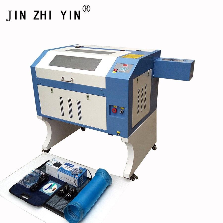 4060 CO2 Laser Engraving Cutting Machine 50/60/80/100W W2 Reci M2 System Laser Engraver Engraving Plywood Crystal Glass MDF