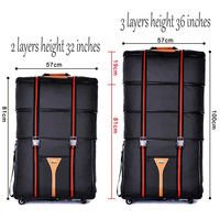 waterproof 32 36 inch Large capacity Oxford cloth rolling luggage bag abroad to study and move to move folding trolley suitcase