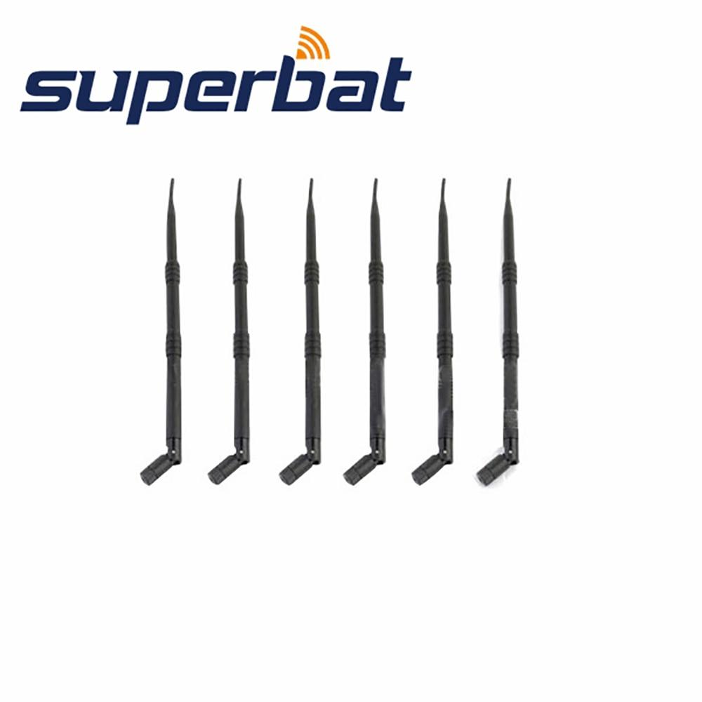 Superbat WiFi антенна с высоким коэффициентом усиления 9dBi 2,4 ГГц Omni Booster Антенна RP-SMA для беспроводного маршрутизатора WLAN PCI карта резиновая антенна