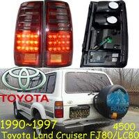 Land Cruiser Prado Taillight 1990 1997 Free Ship LED 2pcs Set Cruiser Rear Light Land Cruiser