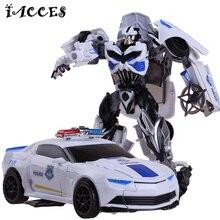 New Plastic Alloy Metal Transformation 4 Toys Anime White Robot Car Dragon Model Brinquedos Action Figures