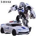 Novo 4 Brinquedos Anime Branco Deformação Robô de Plástico + Liga de Metal Dragão Carros Modelo Brinquedos Figuras de Ação Brinquedos para Meninos crianças presente