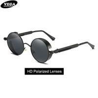 Roupai Round Steampunk Sunglasses Polarized Women Men Steampunk Welding Goggles Vintage Steam Punk Glasses 372