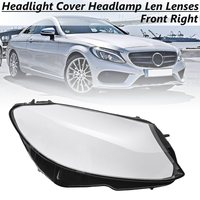 Front Right Headlight Headlamp Len Lenses Shell Plastic Cover For Mercedes Benz C180 C200 C260L C280
