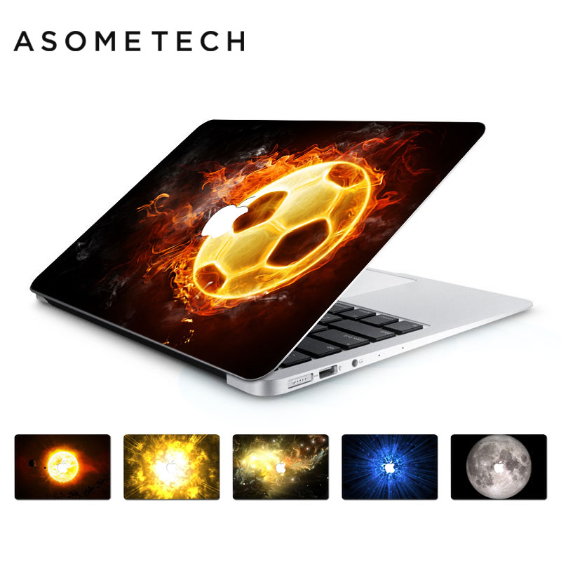 YCSTICKER Bright Football Laptop Sticker Skin For Macbook Air Pro Retina 13.3 15.4 Planet Series PVC Decal Sticker For Mac 11 12