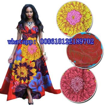 high quality stones Ankara wax fabric 100% cotton African real wax print fabric veritable Nigerian wax fabric  H170714