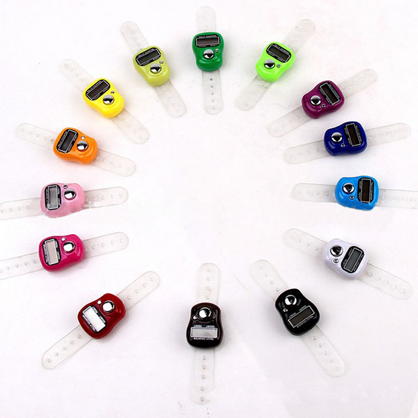 Mini 5 Digital LED Golf Finger Counter Finger Display Manual Counting Tally Clicker Timer Soccer Golf Counter Golf Training Aids