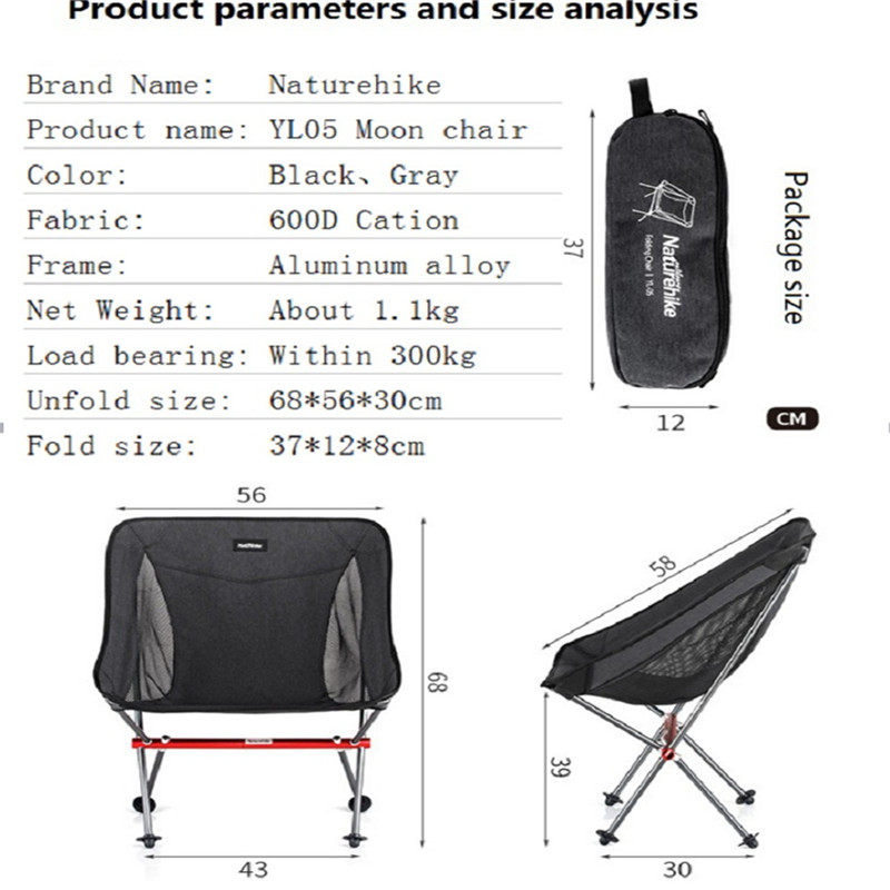 Image 3 - Naturehike Portable Folding Chair Outdoor Ultralight Fishing Stool Director Camping Beach Chair Art Sketch Chairs-in Camping Chair from Sports & Entertainment
