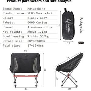 Image 3 - Портативный складной стул Naturehike, ультралегкий уличный стул для рыбалки, походный пляжный стул, художественные стулья для набросков