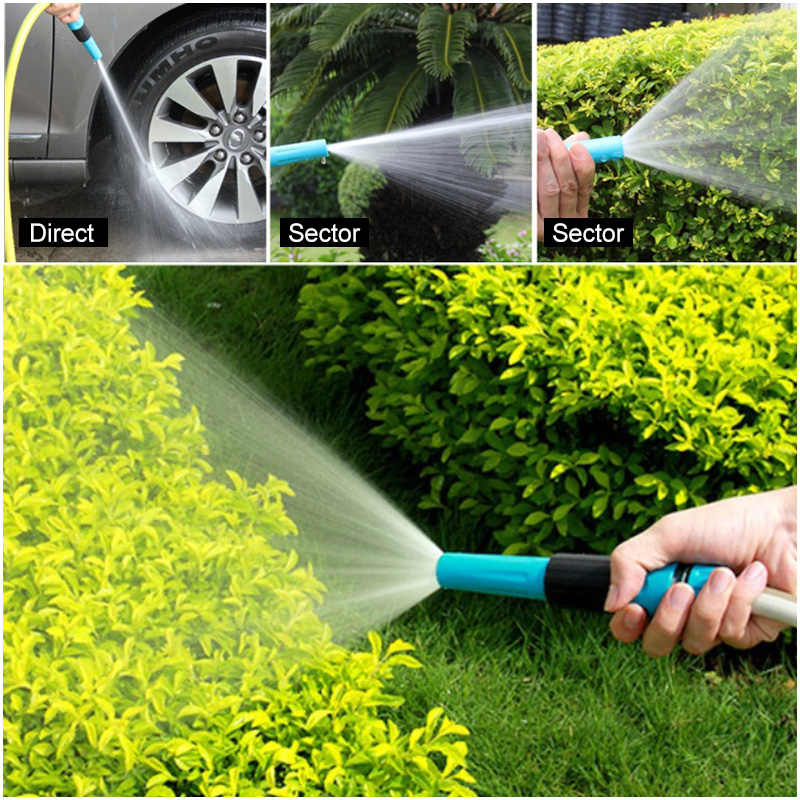 Plastic multifunctionele familie wasstraat direct spuitpistool tuin watering watering sprinkler