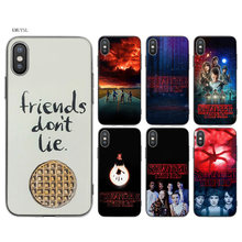 KMUYSL stranger things poster TPU Transparent Soft Silicon Case Cover Coque for iPhone X 7 8 6 6s Plus 5 5S SE 5C(China)