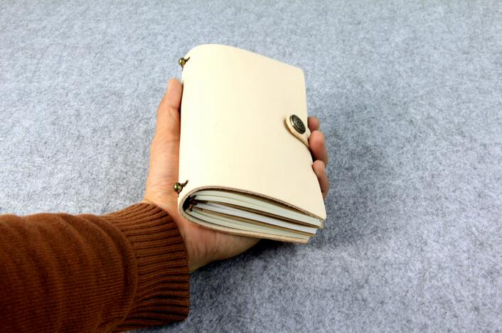 100% Genuine Leather Mini Vintage Planner Travel and Journal Notebook Diary Daily Memory Book Handmade Cowhide gift