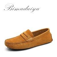 Mejor Mocasines de marca BIMUDUIYU para hombre, zapatos de cuero genuino para hombre, mocasines suaves para hombre, zapatos planos para hombre, zapatos de conducción Gommino
