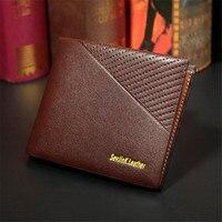 Cheap Selling Retro Design Men S Mini Business Card Holder Wallet Vertical Cross Fashion Men Folding