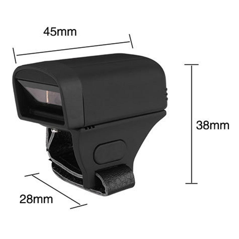 BEESCLOVER Finger Wearable Ring 1D/2D Small Barcode Scanner / Bluetooth 1D Barcode Scan Gun For Commercial POS System r20