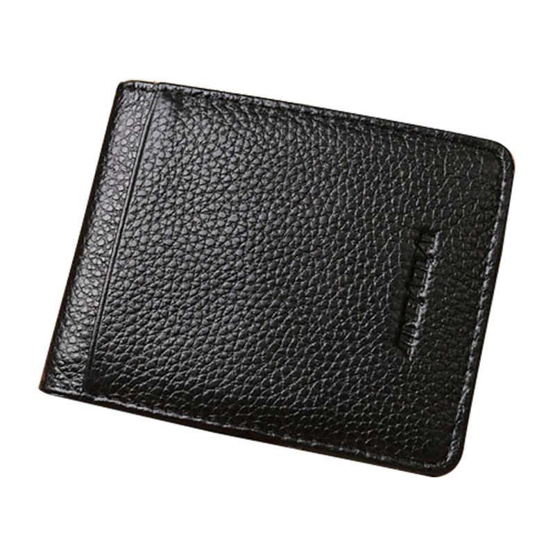 Мужской кошелек из натуральной кожи с высококачественным черным кошельком для мужчин, многополярный бизнес-стиль