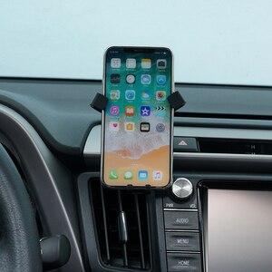 Image 3 - Per Toyota RAV4 2014 2015 2016 2017 2018 Accessori Per Auto Car Air Vent Mount Culla Del Supporto Del Basamento per Cellulare Mobile telefono GPS