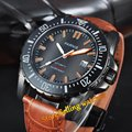 Parnis mechanical steel 43mm 20ATM PVD MIYOTA Automatic sapphire glass Mens Watch