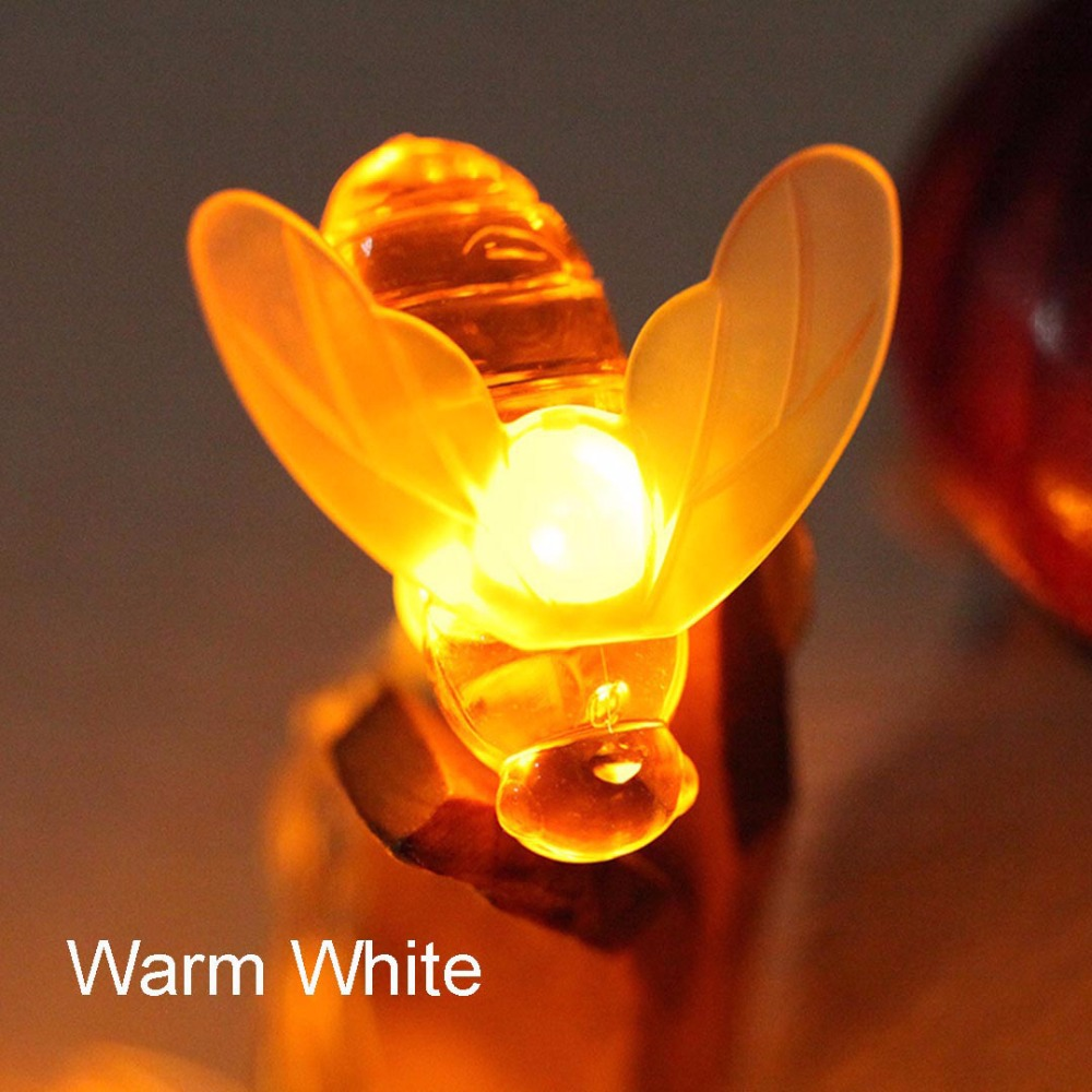 Bee LED Lys String Holiday Lights Garland Batteri USB Operated Fairy - Ferie belysning - Foto 3