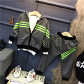 Gray/Black 2017 New Boys Clothing Set Zipper Hoodies Jackets + Leisure Casual Pants Suit,kids Boy Sprots Suits