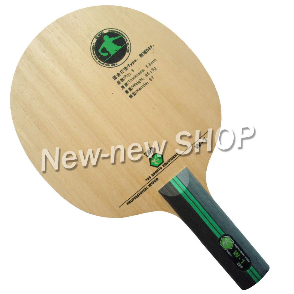 729 W-1 W1  W 1 Chop DEF+ Straight Handle Table Tennis PingPong Blade