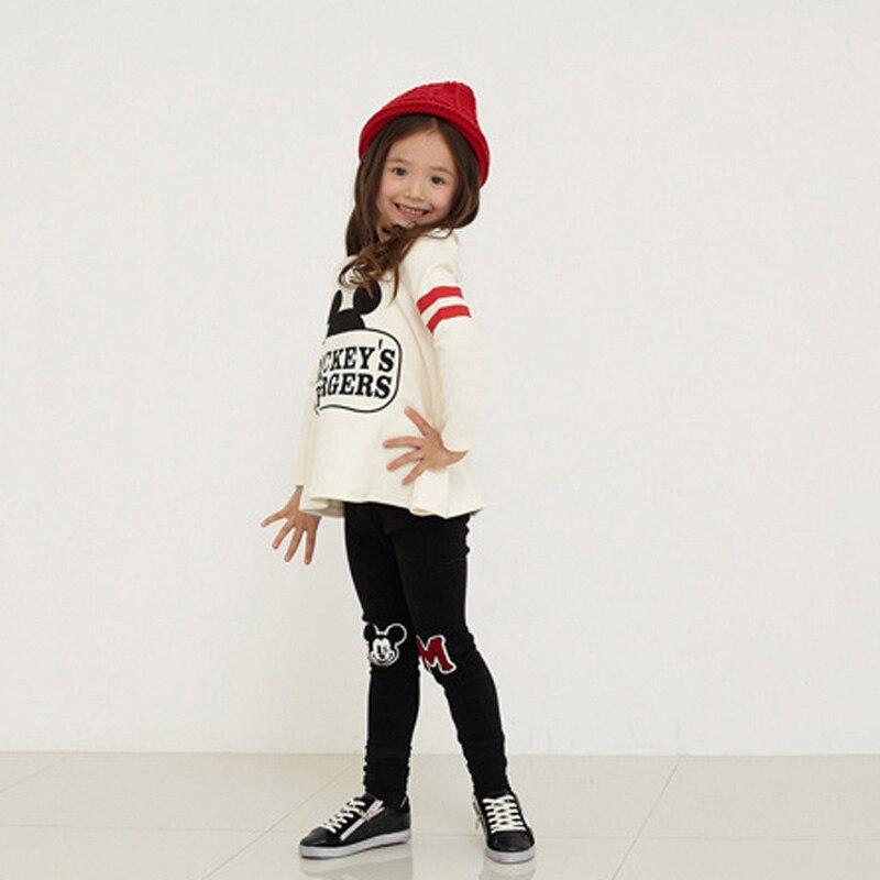 2pcs/set girls winter clothes clothing sets minnie roupas infantil meninas kids clothes girls baby girl cartoon t-shirt+ pants