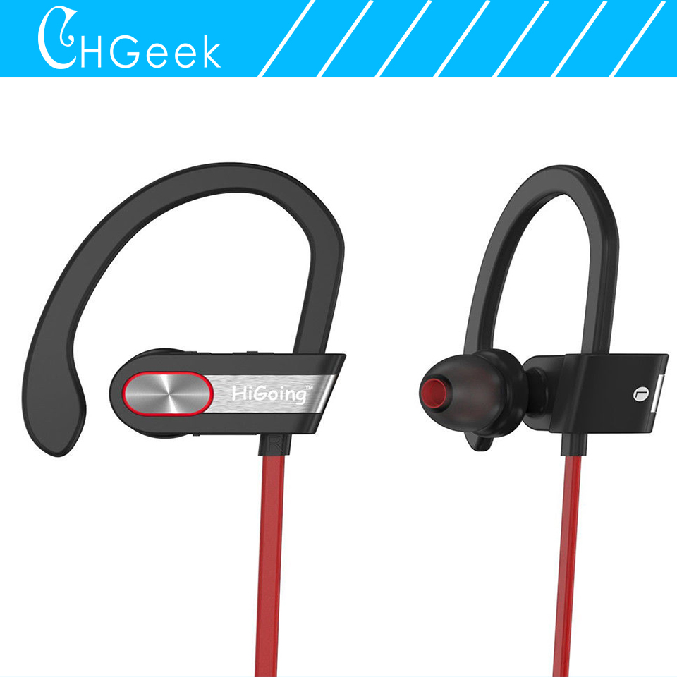 Wireless Bluetooth Headset V4.1 Stereo Sports Earbuds with Mic In-Ear Noise Cancelling Sweatproof Earphone for iPhone,Samsung,LG wireless headphones v4 1 bluetooth earphone stealth sports headset ear hook earpiece with mic for iphone 7 7s samsung xiaomi
