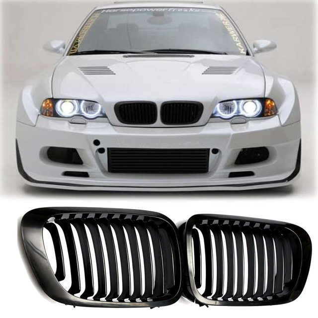 Gloss Black Kidney Front Grilles Grill For BMW SERIES E COUPE - 2 door bmw