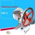 Máquina de prensa de tableta/tipo TDP-5, máquina de fabricación de tabletas con un solo golpe de motor de 110 V 220 V para prensa de presión de 50KN