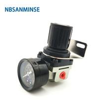 цена на NBSANMINSE AR2000  Air Regulator Gauge 1/8 1/4 3/8 1/2 3/4 1 inch SMC Type Air Source Equipment Units Air Valve