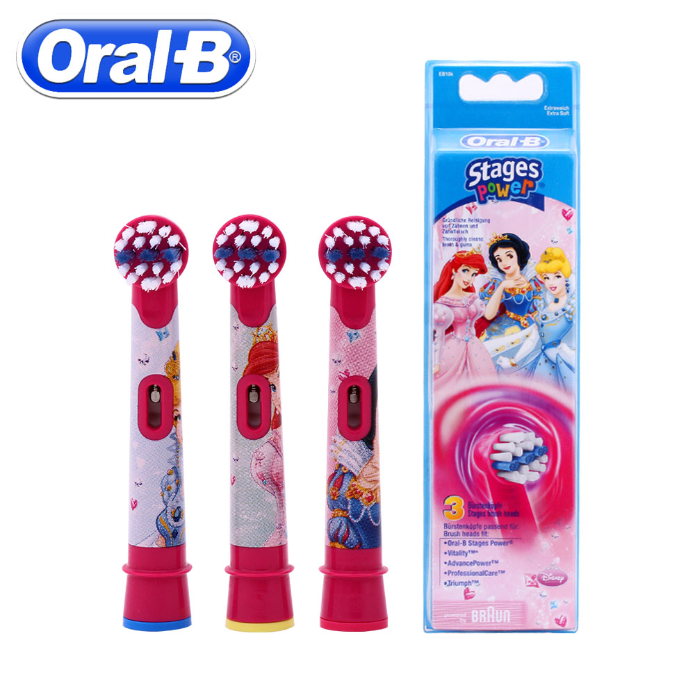 3pc/Pack Oral B Children Electric Toothbrush Heads Replacement Rotation Brush Heads Oral Hygiene Brush Head image