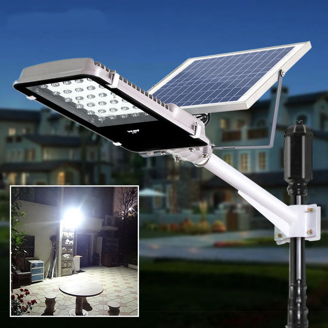Light Controlled 30 LEDs 15W Solar Street Lights Outdoor Garden Path Night Lamps  Solar Powered Panel
