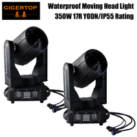 Freeshipping 2 Units Outdoor Events DMX 350W 17R Sky City Color Super Beam IP55 Waterproof Moving Head Light Wooden Case Packing