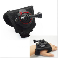 Adjustable 360 Degree Rotate Hand Grip Glove Mount Holder Back Arm Wrist Strap for GoPro Hero5  3 3+ 4 Camera sj4000 free  ship