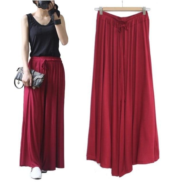 pantalones de pierna ancha Loose pantalón casual falda mujer - Ropa de mujer