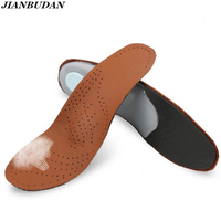 Shoe Pad Orthopedic Insoles Arch Support Cowhide Support Feet Flat Feet Correction Insoles Shock Absorption Breathable