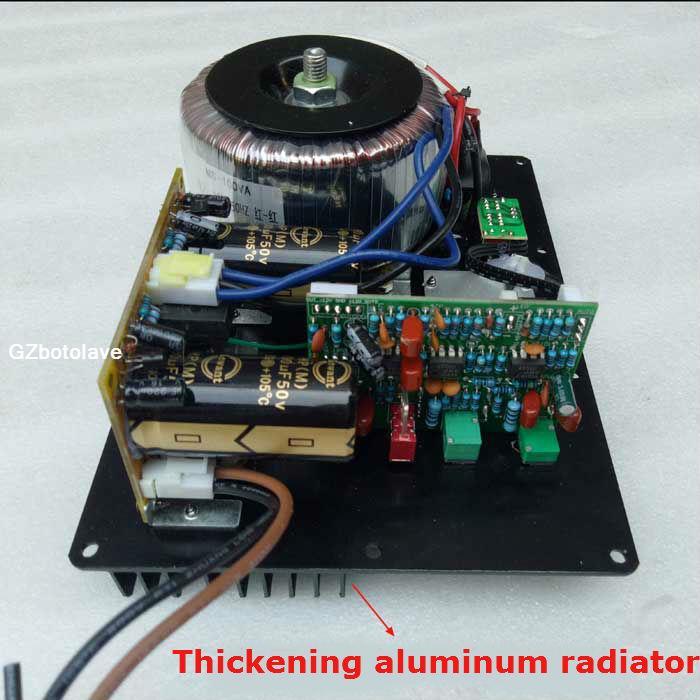 Усилитель басов с большой мощностью 220 В 300 Вт, усилитель басов для домашнего активного сабвуфера