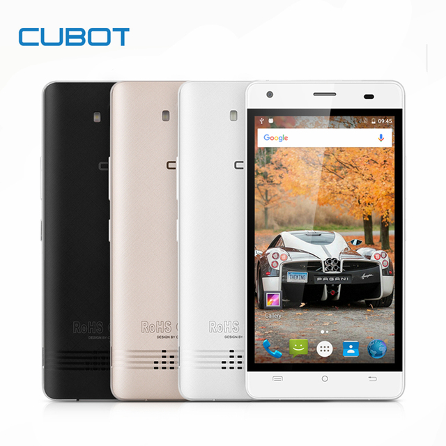 CUBOT ECHO 5.0 Inch Unlocked Smartphone 2GB RAM+16GB ROM 3000mAh Cell Phone Android 6.0 MTK6580 Quad Core Mobile Phone