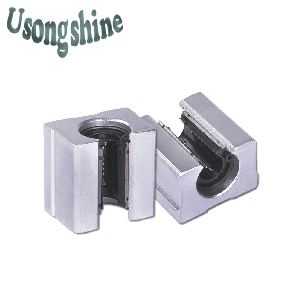 4pcs/lot SBR20UU SBR20 20mm Linear Ball Bearing Block CNC Router cnc parts and machine aluminum block linear guide rail 2pcs sbr20 linear guide 20mm linear rails 4 pcs sbr20uu ball bearing block cnc router