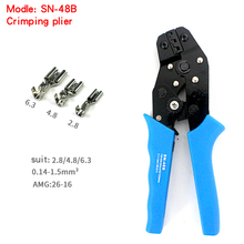 free shipping SN-48B MINI EUROP STYLE crimping tool crimping plier 0.5-1.5mm2 multi tool tools hands