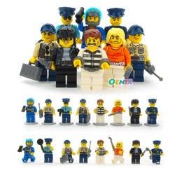 8 шт./лот LegoINGly цифры полицейский человек пожарный маг учитель медсестра строительные блоки игрушки Совместимые LegoING City игрушка для детей
